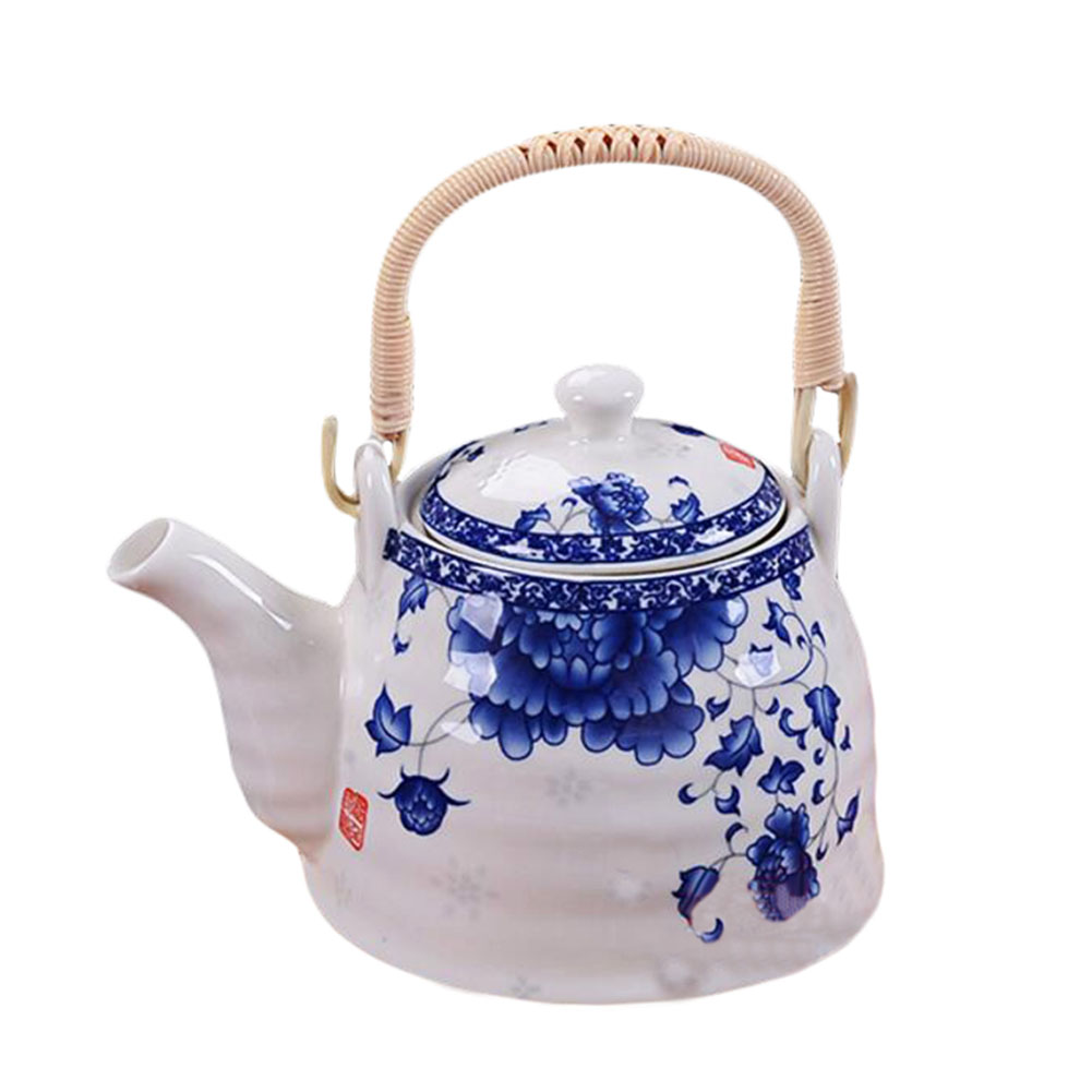 Blue And White Porcelain Teapot Chinese Style Tea Kettle