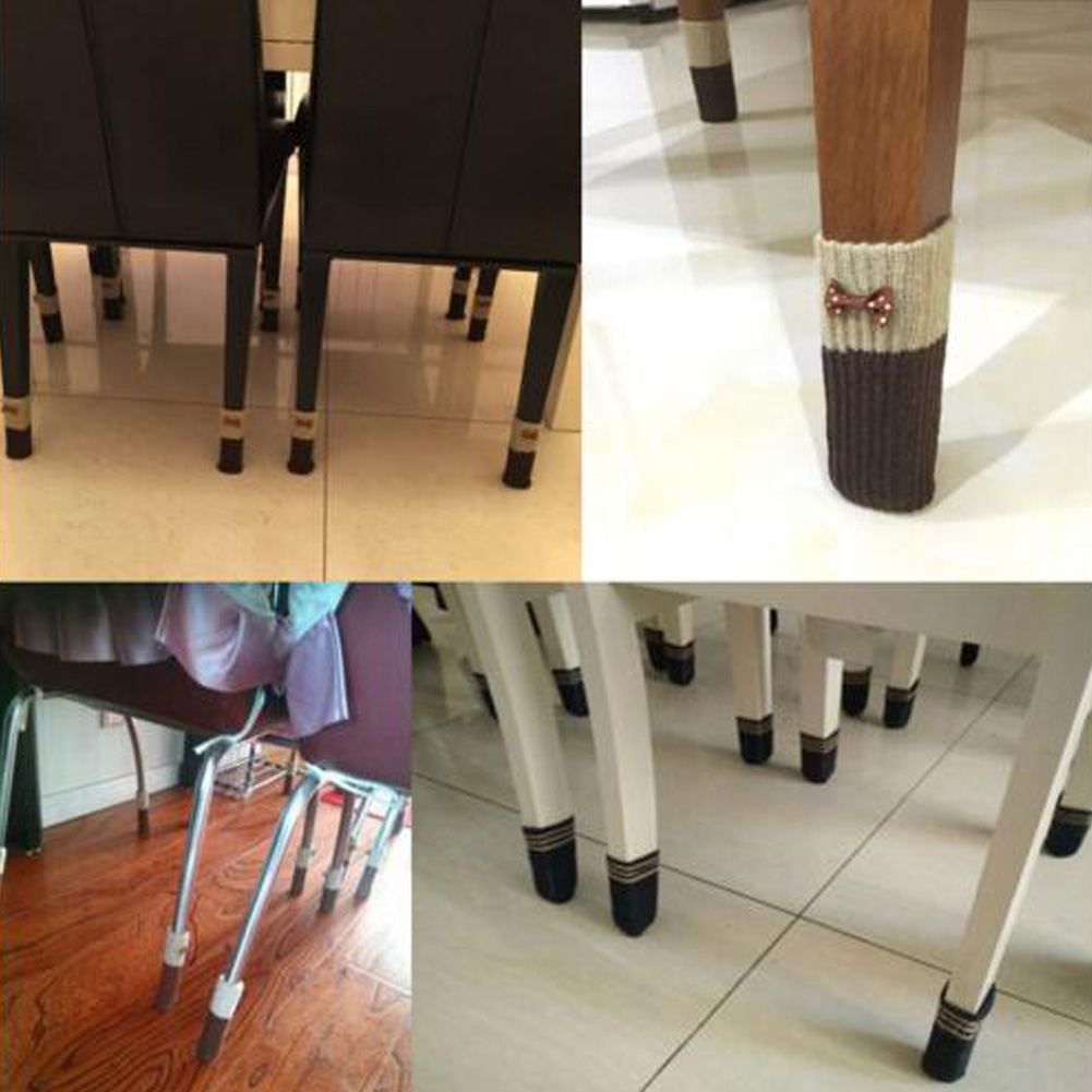 Furniture Knit Socks Floor Protector Thicken Chair Table